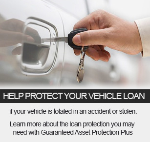 Guarenteed Asset Protection Plus protects your vehical loan if your vehicle is totaled in an accident or stolen
