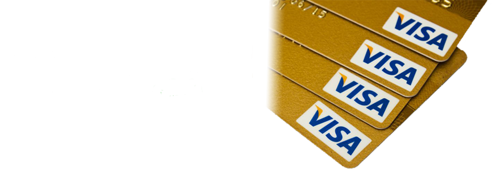 New Visa Credit Card Program - Rates as low as 10.9%* for limits up to $5,000**